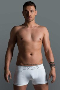 Exzo Microfiber Boxer Brief Underwear White
