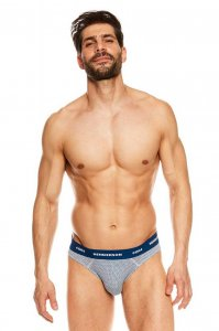 Henderson [2 Pack] Joker 36628-MLC Slip Brief Underwear Grey...