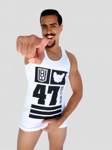 Bullywear 47 Tank Top T Shirt White SST91TT