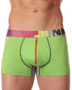 Junk Underjeans Twist Zip Trunk Underwear Green