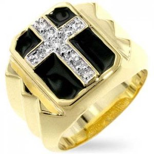 J Goodin Studded Cubic Zirconia Men's Ring R07084T-C03