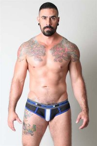 CellBlock 13 Alpha Jock Brief Jock Strap Underwear Blue CBU051
