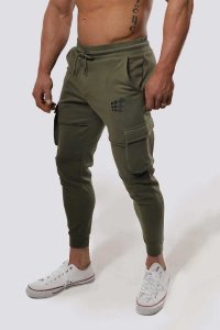 Jed North Renegade Cargo Joggers Pants Olive JNBTM053