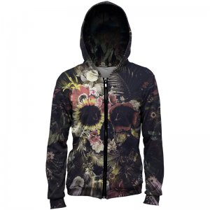 Mr. Gugu & Miss Go Memento Mori Unisex Zip Up Hoodie H-PC736