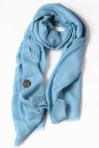 L'Homme Invisible Large Pashmina Scarf Sky Blue