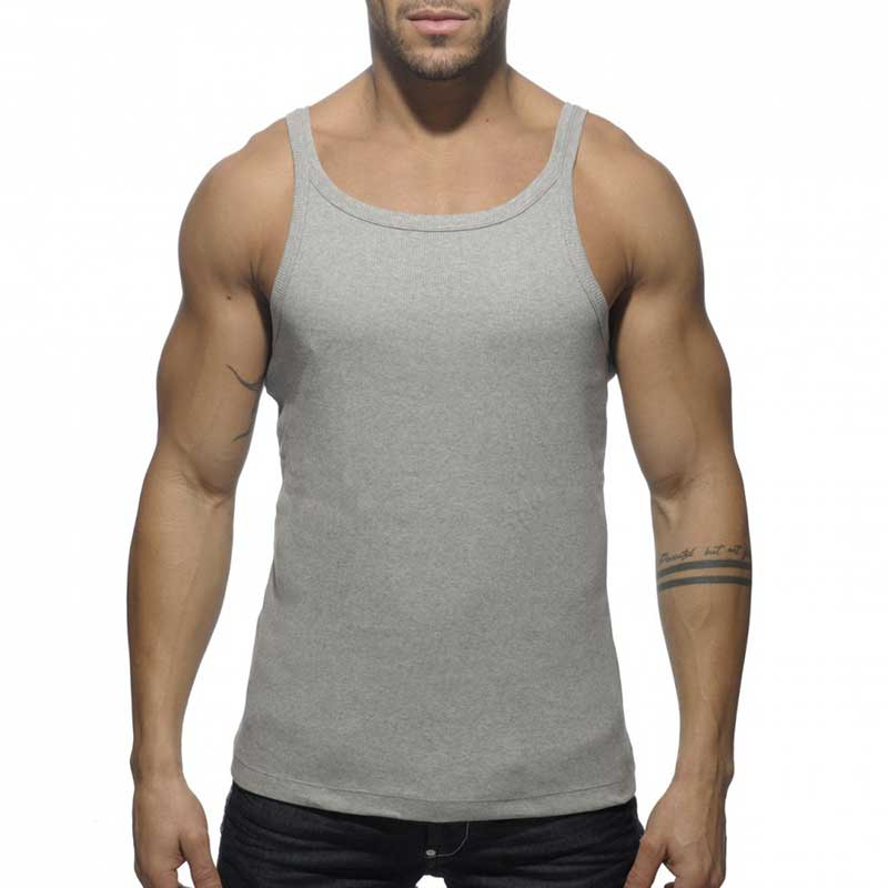 093d9dfa35c2b1 Addicted Rib Tank Top T Shirt Heather Grey AD324  AD324    Buy Men s ...