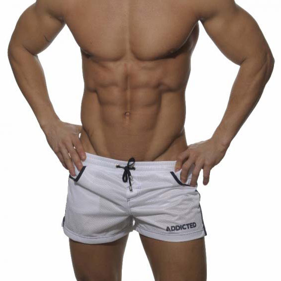 Addicted Mesh Boxer Shorts Swimwear White ADS004