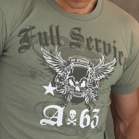 Ajaxx63 T Shirt Full Service Rock & Roll Graphic AS28