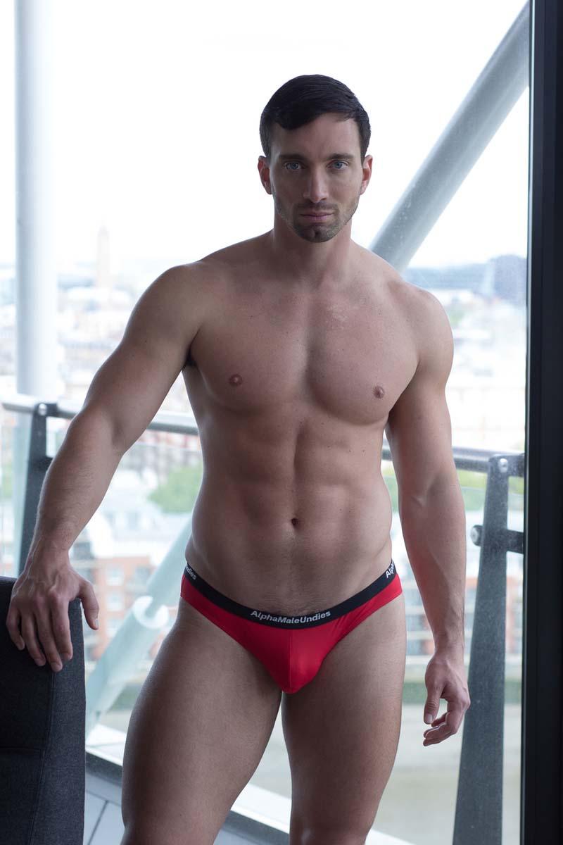 0722d1f7a1 AMU Nylon Mesh Bikini Underwear Red   Buy Men s Fashion Online