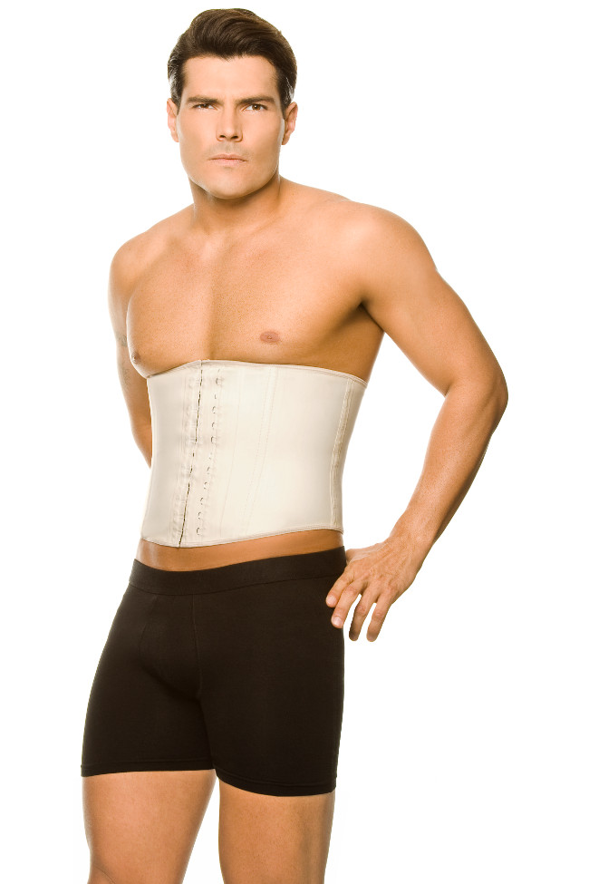 Ann Chery Latex Men's Girdle Waist Cincher Body Shaper Nude 2031