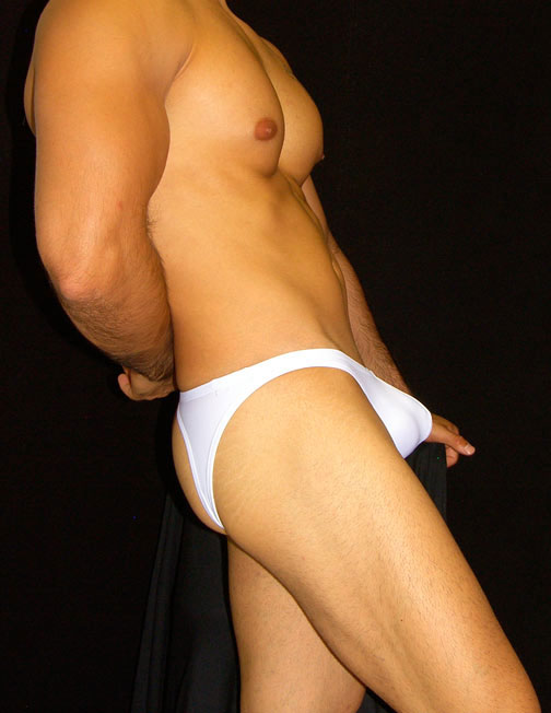 Arroyman Bad Boy Microfiber Jock Brief Jock Strap Underwear White BAD01