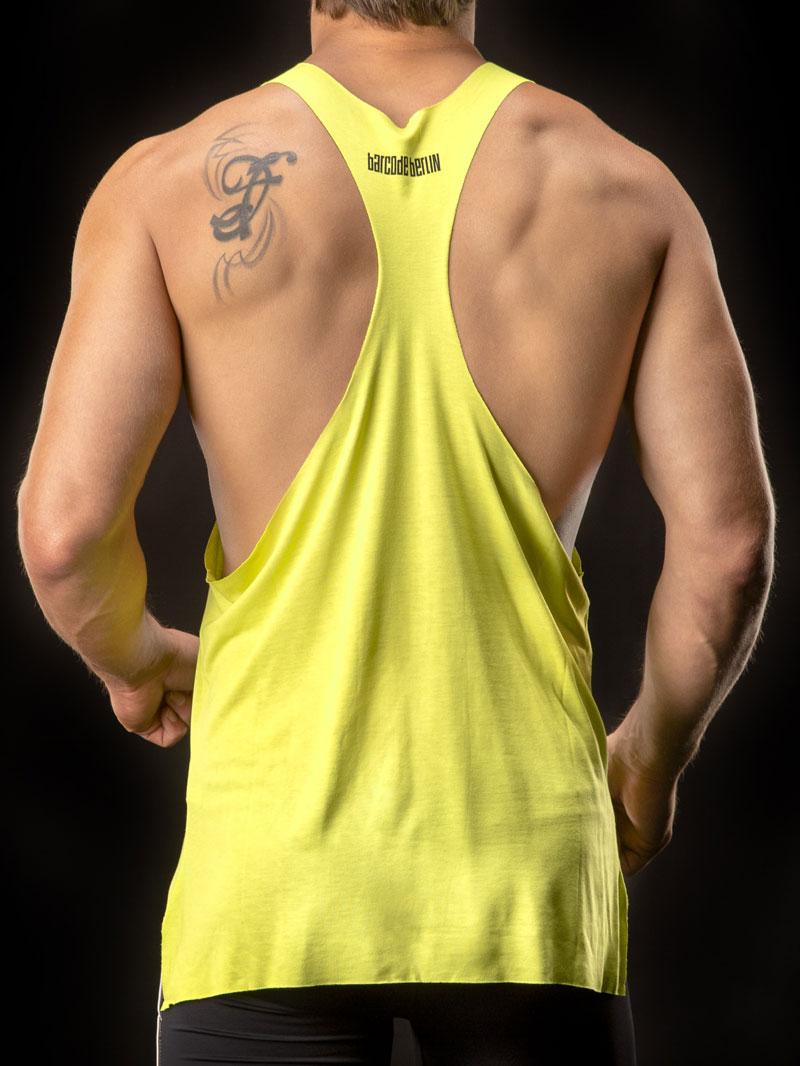 b68f4d83963bb7 Barcode Berlin Bear Muscle Large Armhole Tank Top T Shirt Green 90956-600