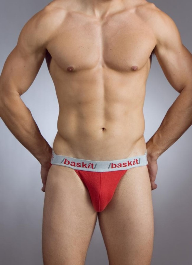Baskit Action Cool All Mesh Jock Strap Chinese Red Underwear M3000