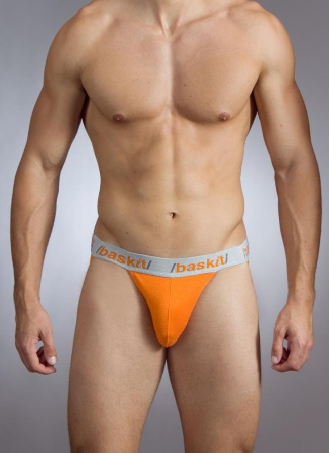 Baskit Action Cool All Mesh Jock Strap Vermillion Orange Underwear M3000