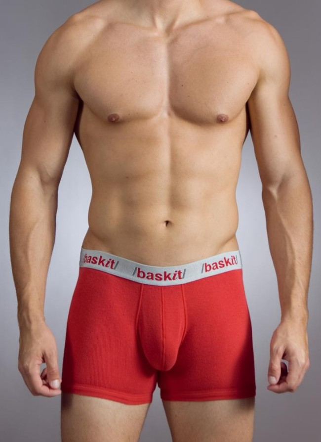 Baskit Action Cool All Mesh Boxer Brief Chinese Red Underwear M3500