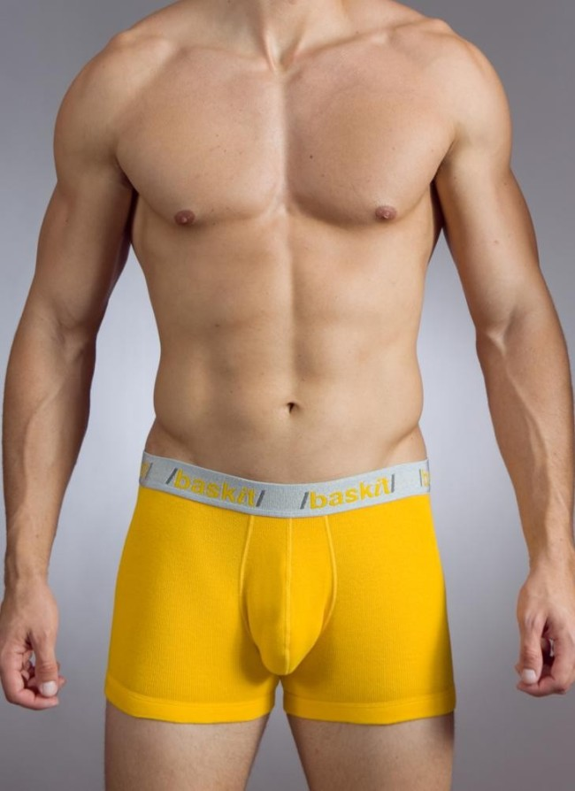 Baskit Action Cool All Mesh Boxer Brief Uber Yellow Underwear M3500