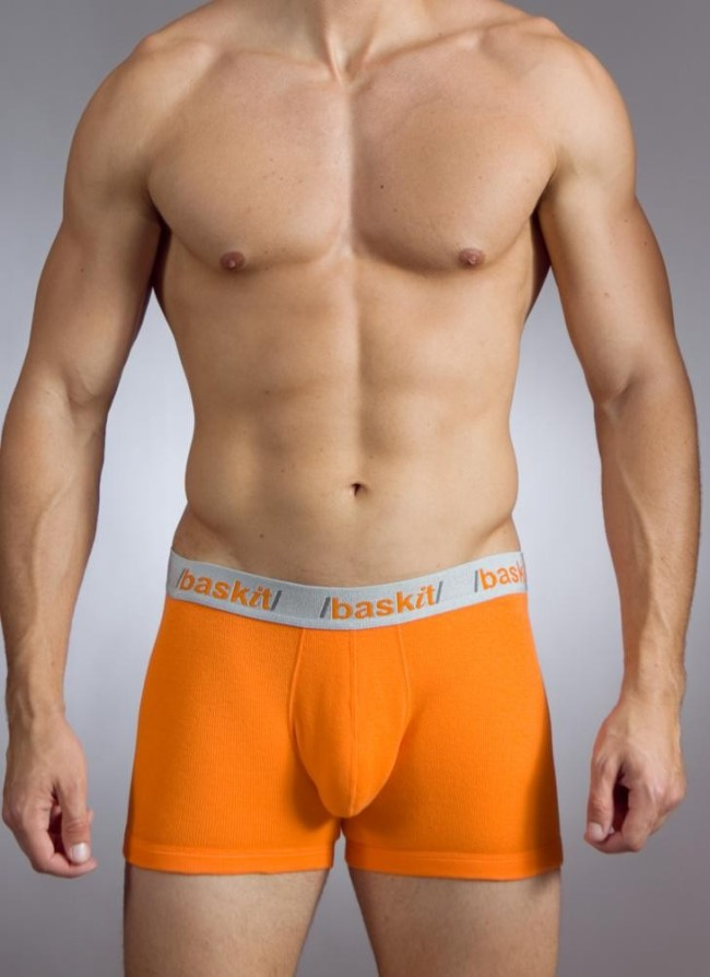 Baskit Action Cool All Mesh Boxer Brief Vermillion Orange Underwear M3500