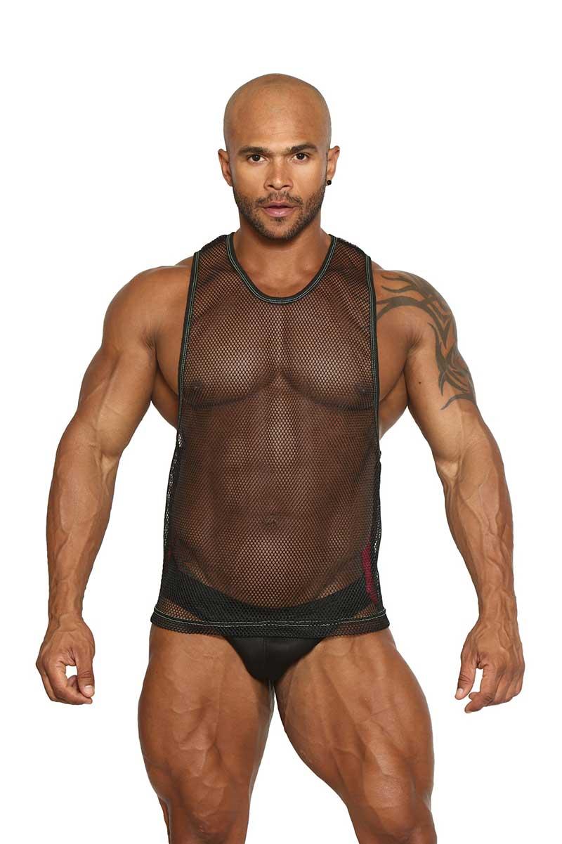 67aff9575964f9 Black Unicorn Triple Threat Power Net Open Air Muscle Top T Shirt Maroon  BU064