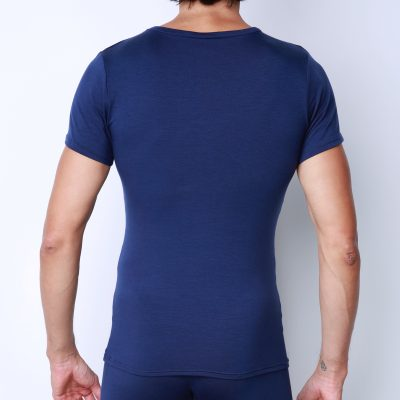 77474e8c004 Bonne Cle Gentlemen s Club Chris Crew Neck Short Sleeved T Shirt Dark Blue