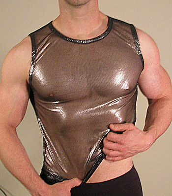 Buffedbod [Custom] Muscle Top T Shirt Sheer Silver MS005