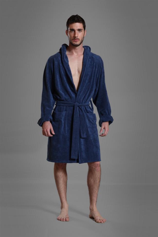 e997175fed Buns Reversible Bathing Wrap Long Cap Bathrobes Blue 13-BL-4-TCO-30 ...