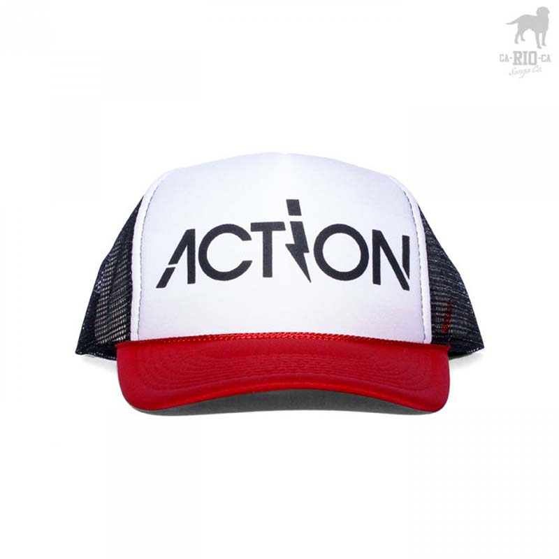 CA-RIO-CA Action 3 Tone Trucker Hat Black Red White CRC-H106100  CRC ... 24c8072ba52