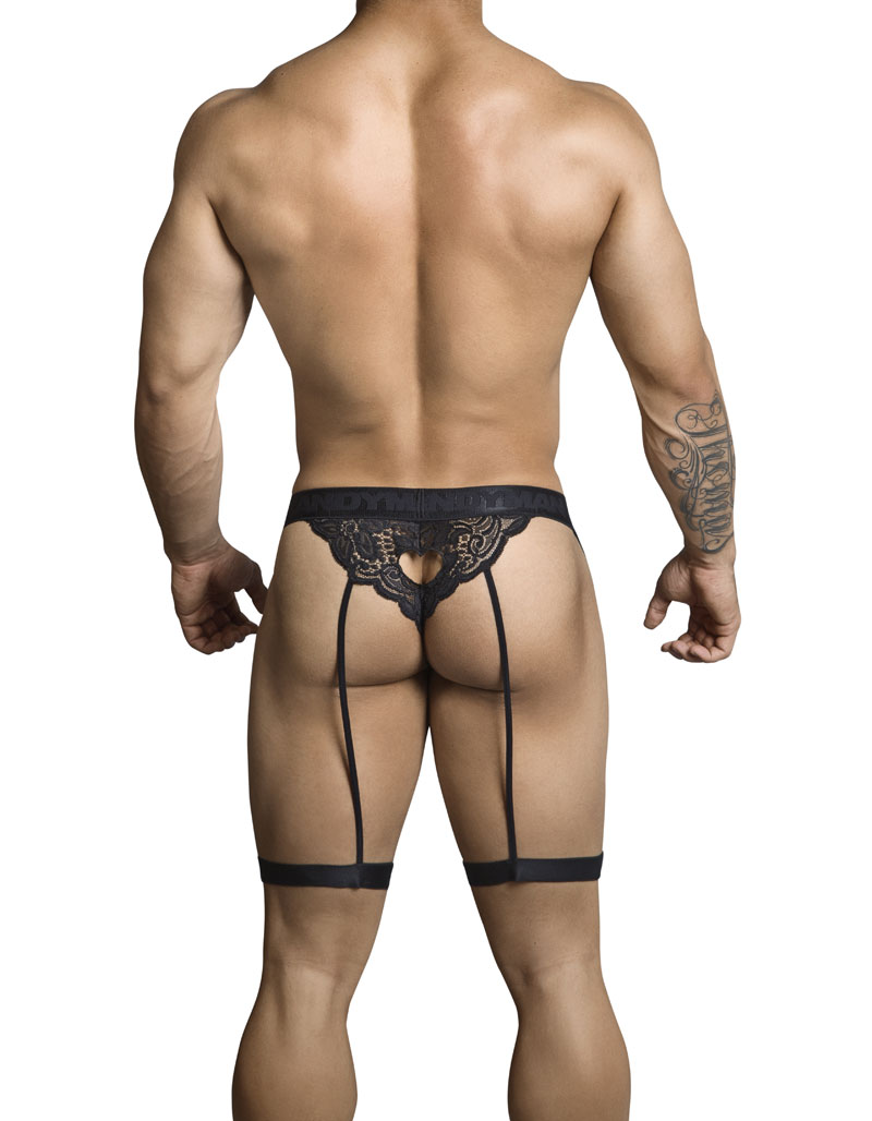 df8aad39d Candyman Lace Garter Belt Cut Out Thong Underwear Black 99310  99310 ...