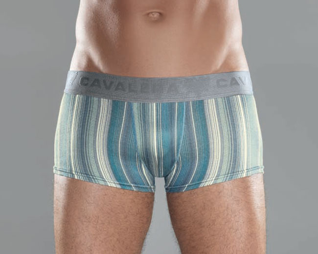 Cavalera Cotton/Elastane Trunk Boxer Brief Underwear Marine Blue 435-01
