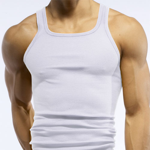 C-IN2 Core Square Neck Tank Top T Shirt White 4127 AU2