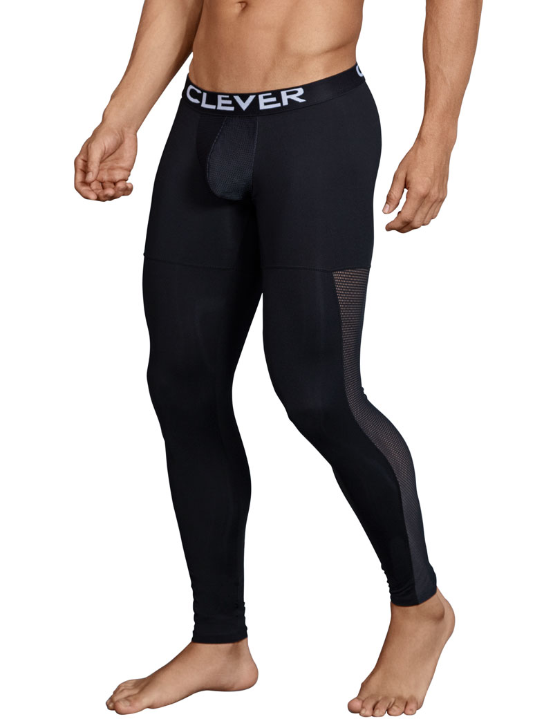 Clever Astist Athletic Mesh Sides Pants Black 0318