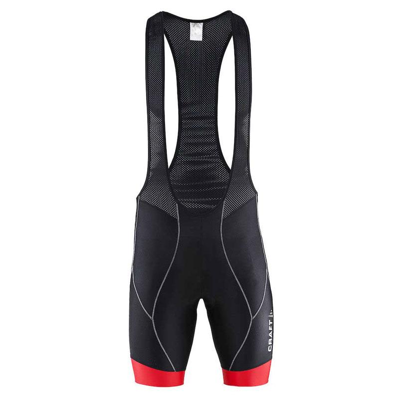 Craft Active Bike Bibshort Bodysuit Black Bright Red 1900029 ... d70451a83