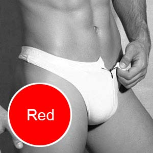 Doreanse Zipper Thong Underwear Red 1354