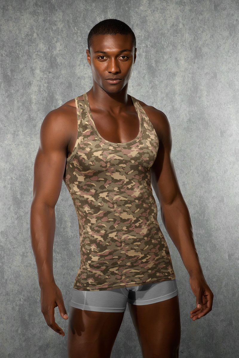 aa09ab67cd8d9 Doreanse Camouflage Tank Top T Shirt 2215  2215    Buy Men s Fashion ...