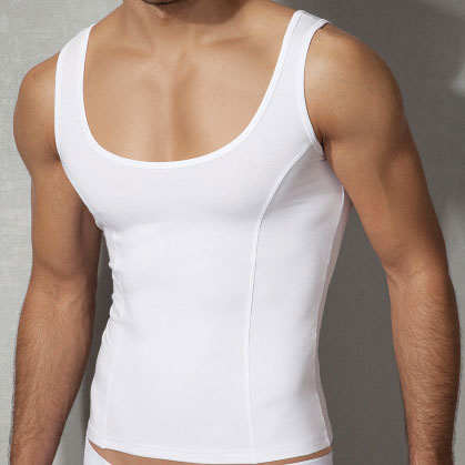 Doreanse Athlete Wide Neck Tank Top T Shirt White 2255