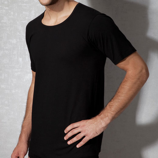 Doreanse Plain Short Sleeved T Shirt Black 2510