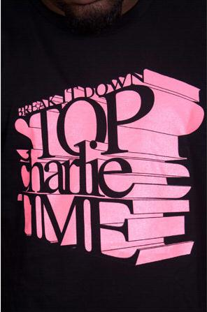 e.5.Charlie Charlie Time Custom Printed T Shirt Black