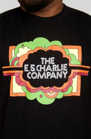 e.5.Charlie e.5.Charlie Co. Custom Printed T Shirt Black