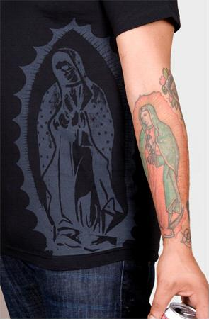 e.5.Charlie Mother Mary Custom Printed T Shirt Black