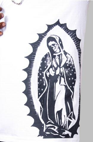 e.5.Charlie Mother Mary Custom Printed T Shirt White