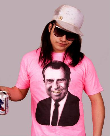 e.5.Charlie Pink Dicky Custom Printed T Shirt Pink