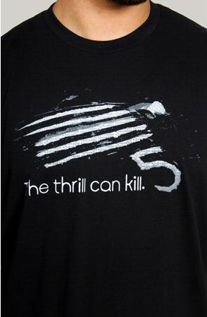 e.5.Charlie The Thrill Can Kill Custom Printed T Shirt Black