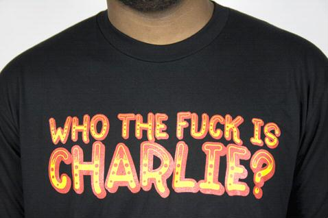e.5.Charlie Who Custom Printed T Shirt Black