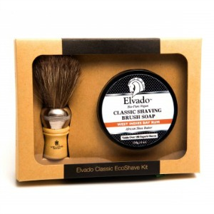 Elvado West Indies Bay Rum Classic Eco Shave Kit Personal Ca...