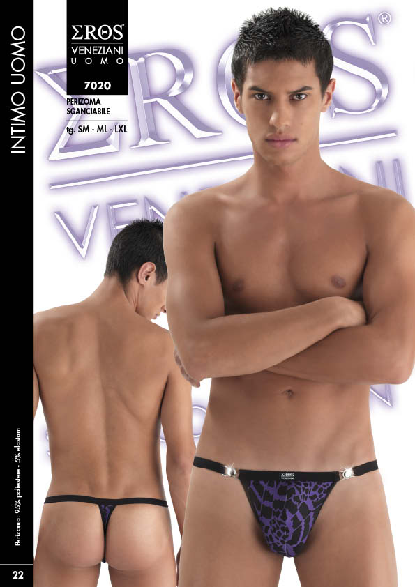 Eros Veneziani Hiver Detachable Thong Underwear Purple 7020