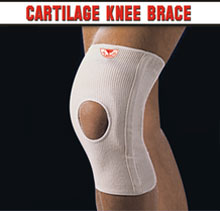 Flarico Knee Cartiliage Brace with Cut Out Knee White F205