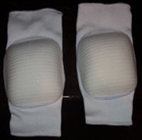 Flarico International Knee Pads Full Dome Top White F860