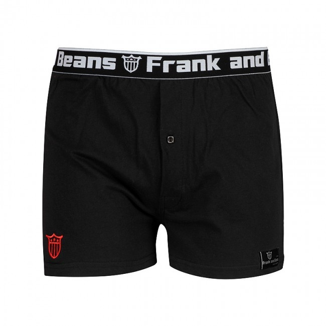 Frank & Beans Coloured Tag Boxer Brief Underwear Black