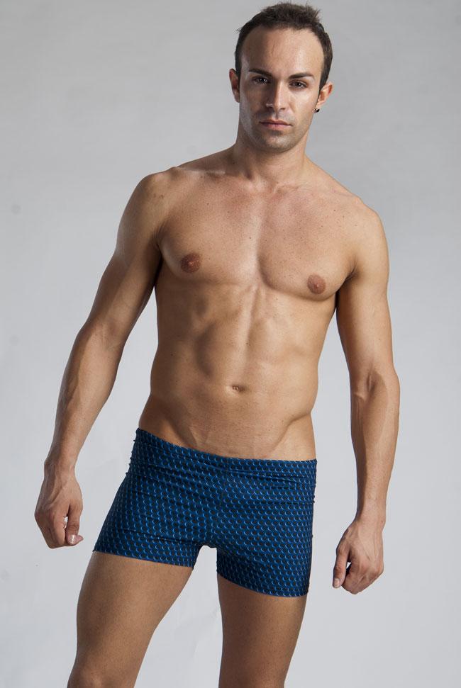 d1ad468c13 Geronimo Shallow Low Rise Boxer Square Cut Trunk Swimwear Dark Blue 1123B2