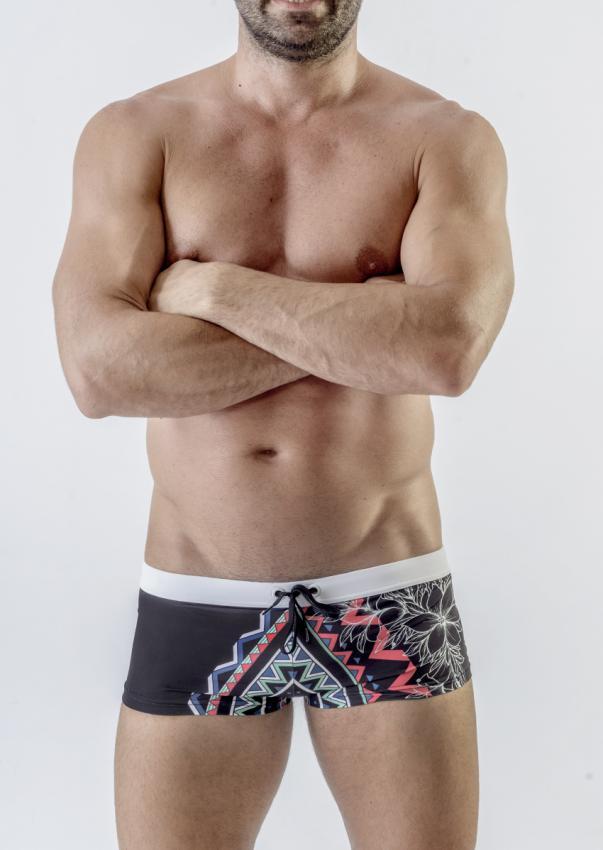 74ccab8b10 Geronimo Square Cut Trunk Swimwear 1701B2-2 [1701B2-2] : Buy Men's ...