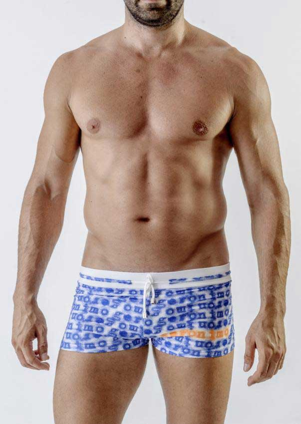 eac2465884 Geronimo Square Cut Trunk Swimwear 1709B1-2 [1709B1-2] : Buy Men's ...